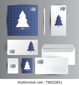 Christmas identity. Calendar, card and envelope design.