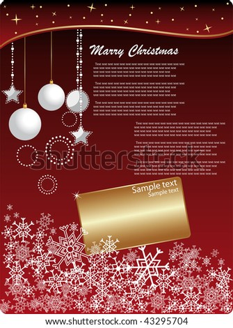christmas invitation background stock vector royalty free 43295704