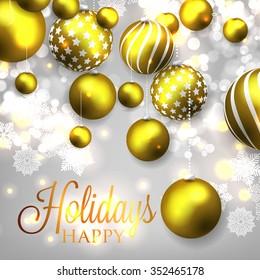 Christmas invitation with Christmas balls