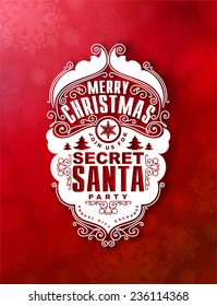Christmas invitation at Secret Santa holiday party