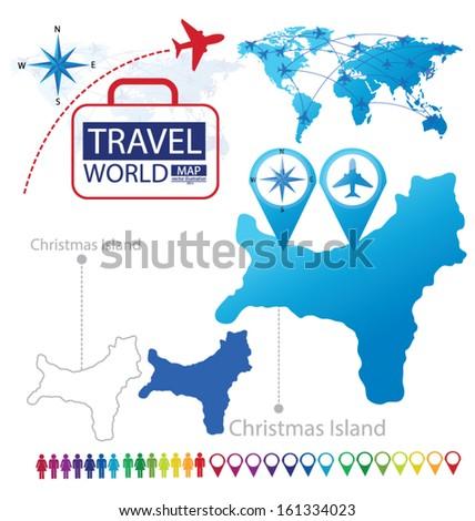 Christmas Island World Map Travel Vector Stock Vector Royalty Free