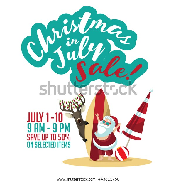 Christmas In July Royalty Free Images.Christmas July Sale Marketing Template Christmas Stock