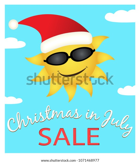 Christmas July Sale Promotion Banner Stock Vector Royalty Free 1071468977