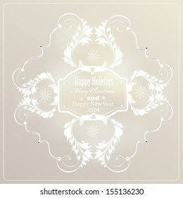 Christmas  label for Xmas and New Year holidays. Calligraphic vector design