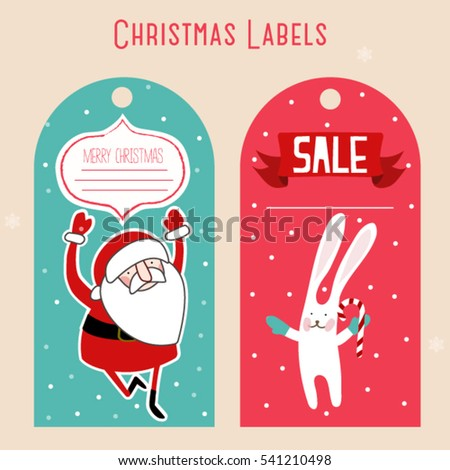 Christmas Labels Stock Vector Royalty Free 541210498 Shutterstock