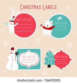 christmas labels and decoration