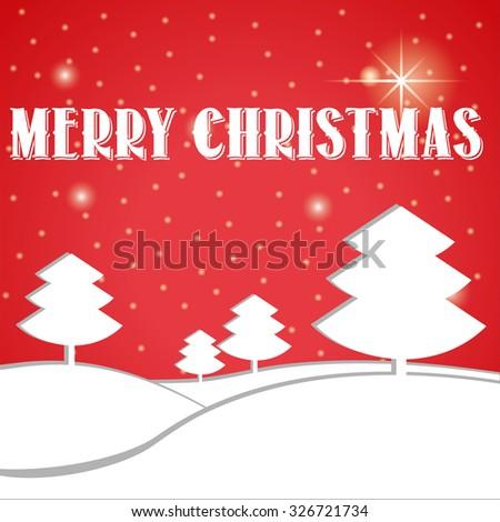 Christmas Landscape Card Massage Stock Vector 326721734 - Shutterstock