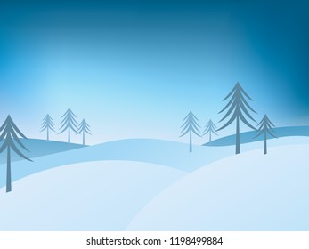 christmas landscape with space for your text