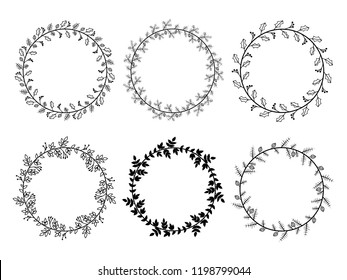 Christmas Laurel Wreaths Vector Collection