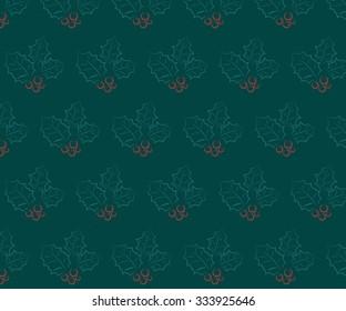 christmas leaf pattern background vector illustration