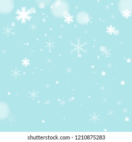 Christmas light background with snowflakes. Vector illustration Eps 10.Blur,Abtract.