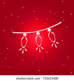 christmas light icon. isolated symbol