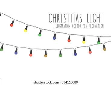 Christmas Light Illustration Vector For Decoration.
