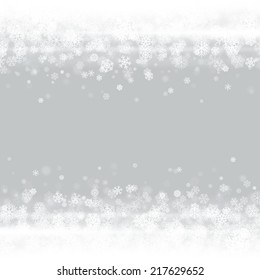 Christmas light and snowflakes vector background. Greeting card or invitation decoration.