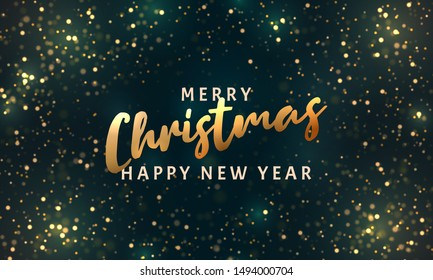 Christmas light vector background. Happy New Year. Sparkling magical dust particles. Xmas card. Vector Illustration. Magic concept.