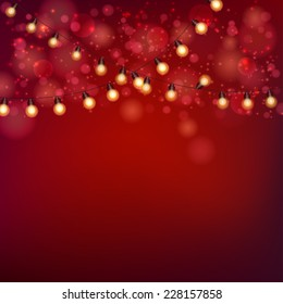 Christmas Lights Background. Vector illustration, eps10