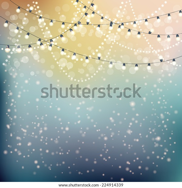 Christmas Lights Background. Vector illustration, eps10