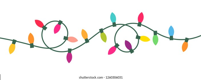 Christmas lights isolated. Vector illustartion.