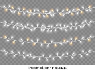 Christmas lights. Light bulb garland vector illustration