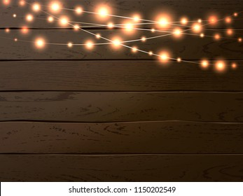 the latest 85346 fd4c6 Wooden Background String Lights Images, Stock Photos ...