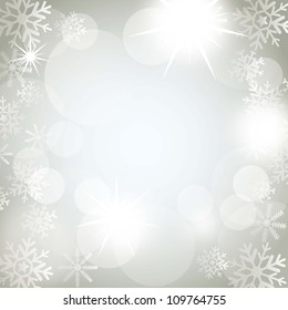 christmas lights with snowflakes background. vector illustration