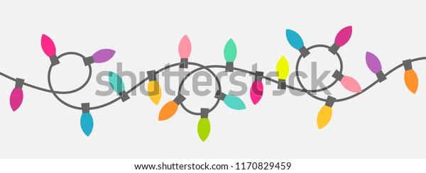 Christmas lights string. Vector illustration