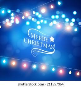 Christmas lights. Vector illustration