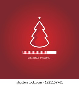 Christmas loading. Christmas tree loading bar background. vector EPS10