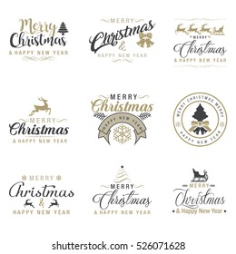 christmas logos badges labels icons - Christmas Logos
