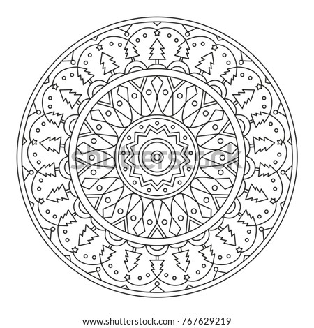 christmas mandala for coloring