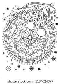 christmas mandala coloring page adult 260nw