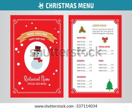 great new year menu design photos vector christmas restaurant