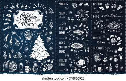 Le winters christmas menu template