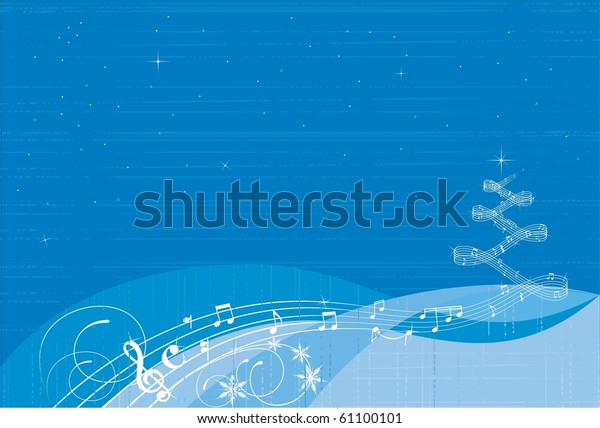 Christmas Music Background.Christmas Music Background Stock Vector Royalty Free 61100101