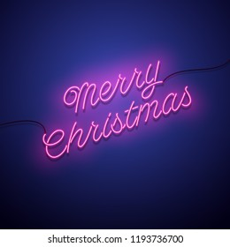christmas neon sign vector background 260nw 1193736700