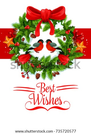Christmas New Year Best Wish Greeting Stock Vector (Royalty Free ...