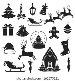 Christmas Images Black And White.Christmas Silhouette Images Stock Photos Vectors