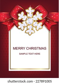 Christmas and New Year. Christmas card with snowflakes. Vector illustration.