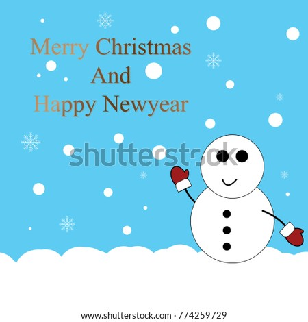christmas and new year card blue vector illustrator
