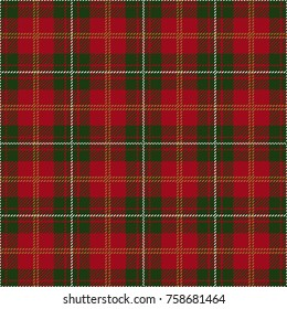 Christmas and New Year Decoration Tartan Plaid. Scottish Woven Pattern.