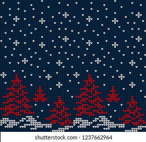 Christmas and New Year Design Seamless Knitting Pattern