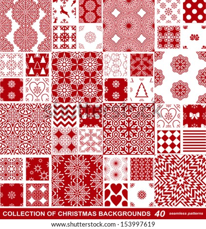 christmas and new year festive backgrounds collection xmas creative retro seamless patterns beautiful