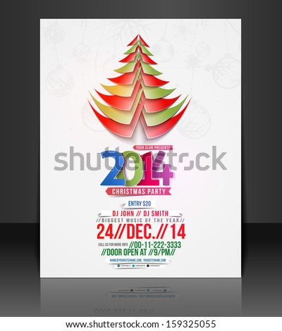 Christmas New Year Flyer Magazine Cover Stock Vector (Royalty Free ...