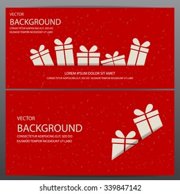 christmas and new year gift voucher certificate coupon template. can be used for business shopping card, customer sale and promotion, layout, banner, web design. vector  illustration