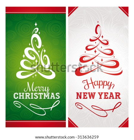Christmas new year greeting cards vector stock vector royalty free christmas and new year greeting cards vector illustration m4hsunfo