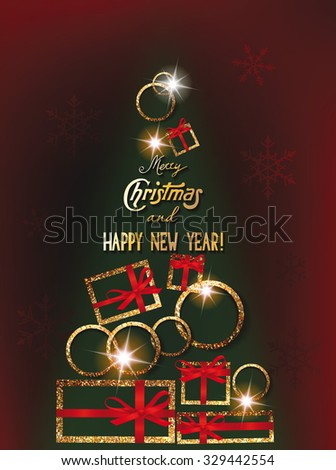 Christmas new year greeting cards abstract stock vector royalty christmas and new year greeting cards with abstract christmas tree m4hsunfo