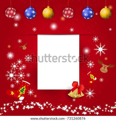 Christmas New Year Greetings Card Vector Stock Vector Royalty Free