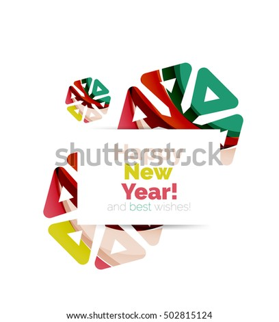christmas and new year sale banner vector illustration