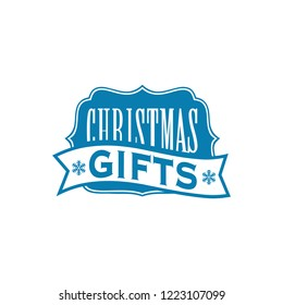 Christmas and New Year sale flat label template