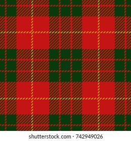 Christmas and New Year Scottish Woven Tartan Plaid Seamless Pattern